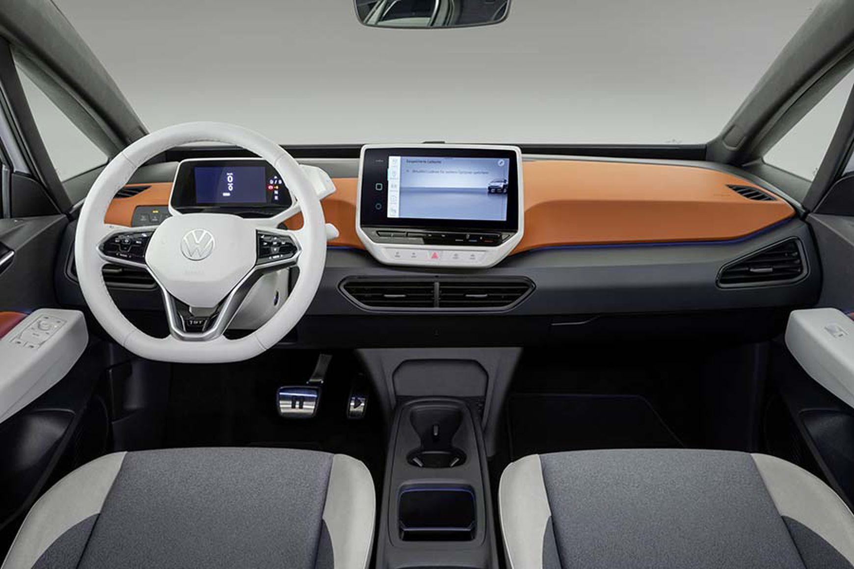 Das Cockpit des neuen VW ID.3 gibt es in mehreren Farbvarianten zu bestellen.
