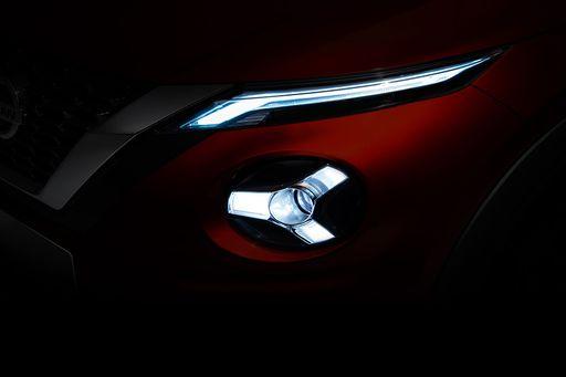 Nissan Teasert die neuen Scheinwerfer des Nissan Juke 2019 an