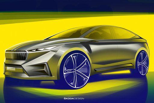 Skoda präsentiert in Genf das Konzept des neuen Crossovers Skoda Vision iV.