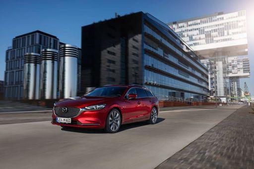 Die Frontansicht des neuen Mazda 6 Facelift. Markteinführung ist im September 2018. Fotocredits: Mazda Österreich