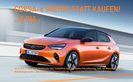Corsa -e e-Edition 3 phasig 11Kw Mietvariante*, 136 PS, 5 Türen, Automatik