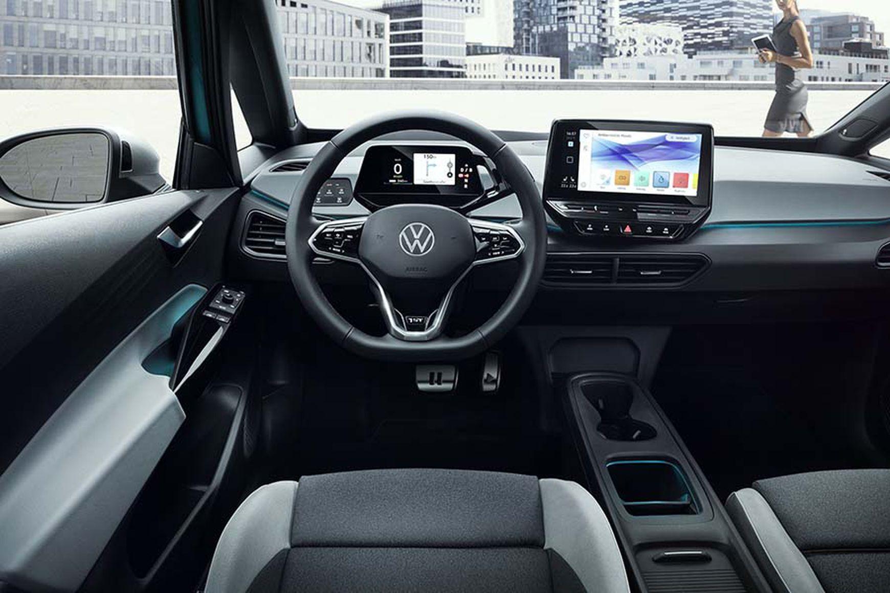 Das Cockpit des VW ID.3 gibt ist die moderne Kommandozentrale des Fahrzeugs.